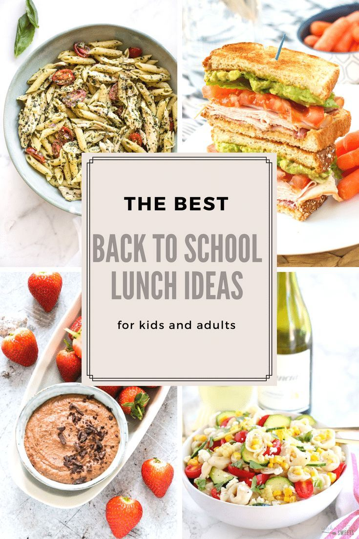 Back to school lunch ideas recipes for kids and adults. Find your ...