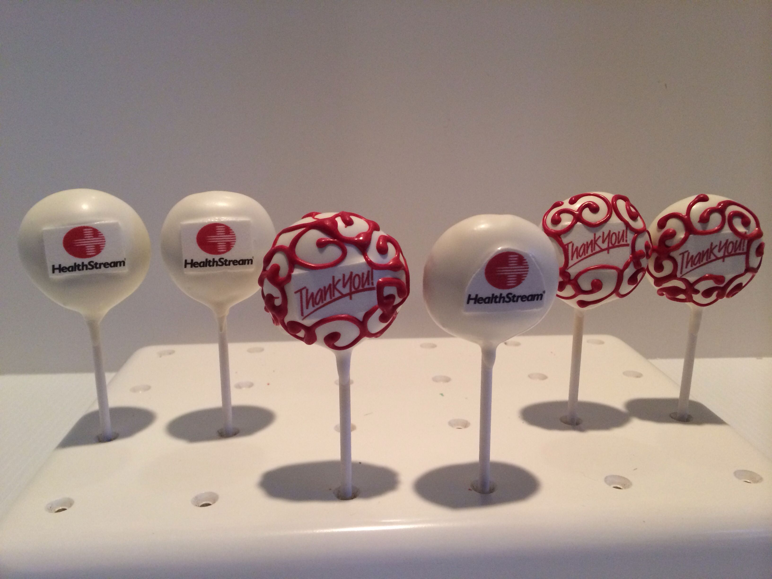 Company Logo And Thank You Cake Pops