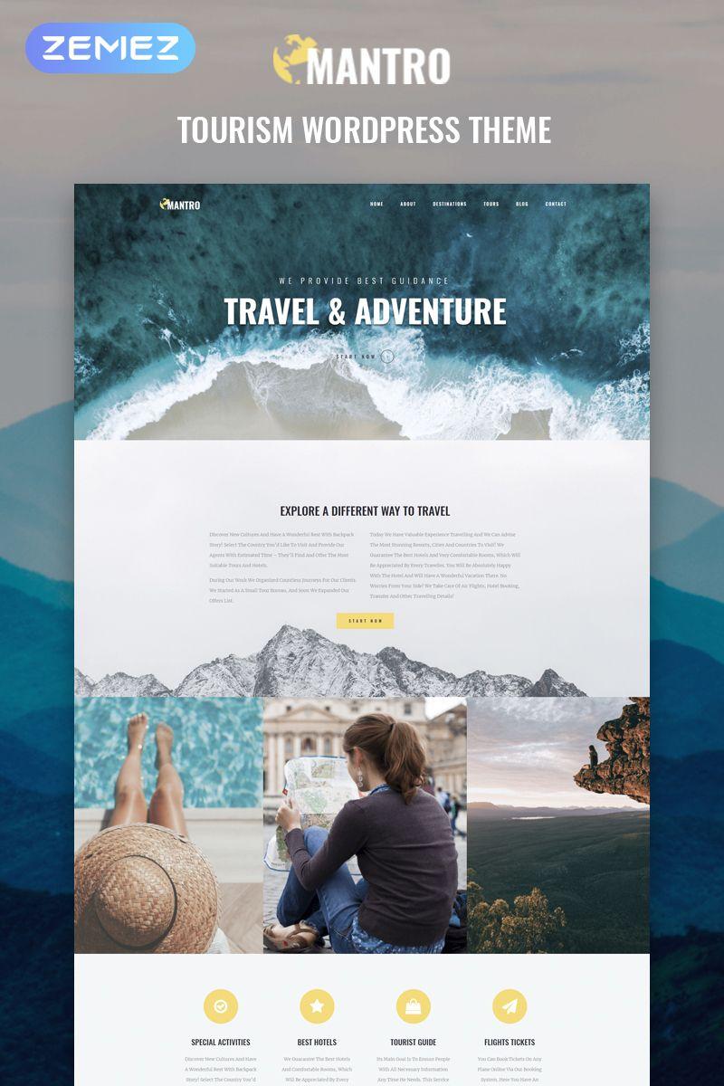Mantro Tourism One Page Modern Elementor Wordpress Theme Ad Page Tourism Mantro Modern Tourism Design Travel Website Design Tourism