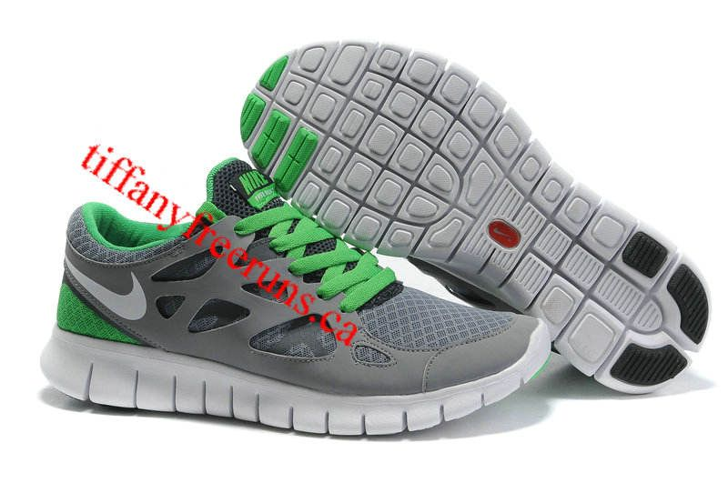Womens Nike Free Run 2 Stealth White Anthracite Lucky Green Shoes