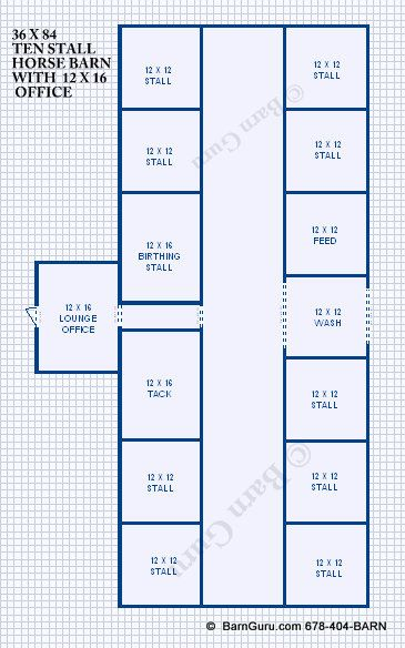 Barn Plans 10 Stall Horse Barn Design Floor Plan Barn Plans Horse Barn Designs Horse Barn Plans