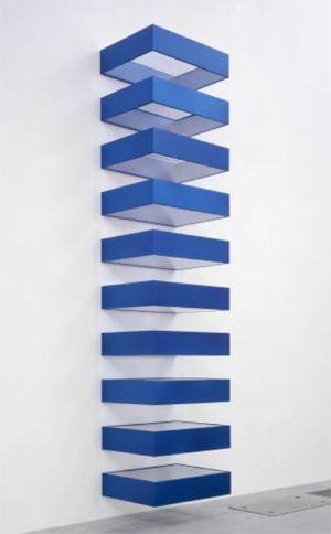 Donald Judd,  Stainless Steel Sculpture