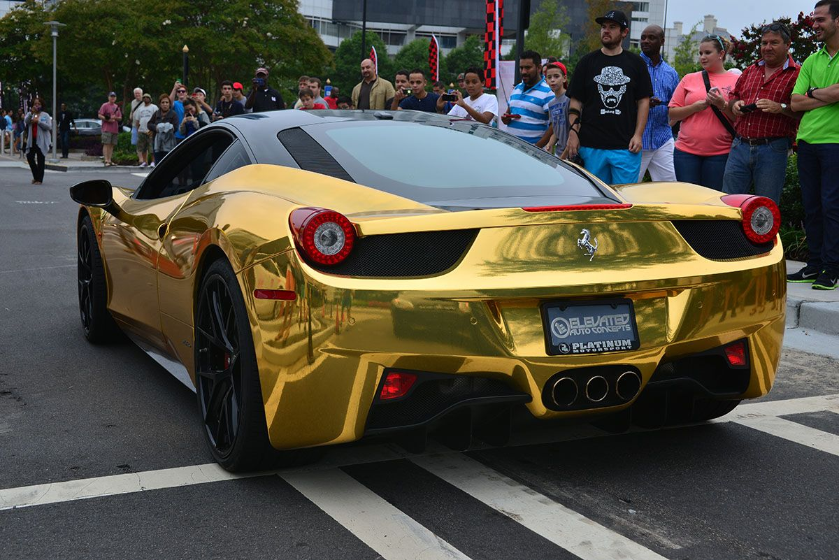 Metallic Gold Ferrari 458 Italia In Buckhead Atlanta
