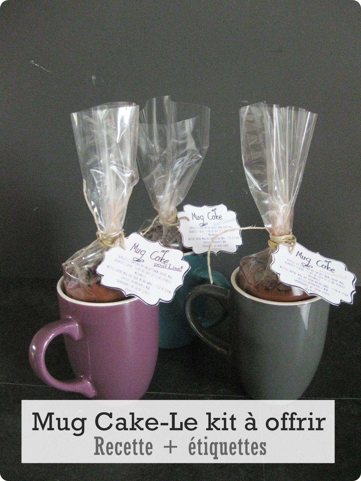 Mug Cake-Le kit à offrir- Recette + Étiquettes à imprimer - Curieusement Bien