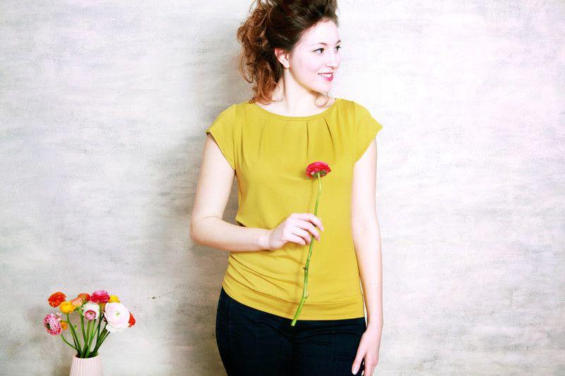 Susa+Shirt+gelb+von+Mirastern+auf+DaWanda.com