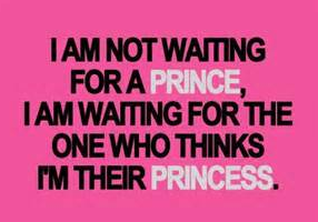 This week… I'm going to be a princess