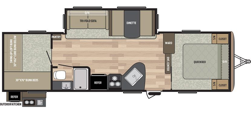301bh New Floorplan Floor Plans Travel Trailer Keystone Rv