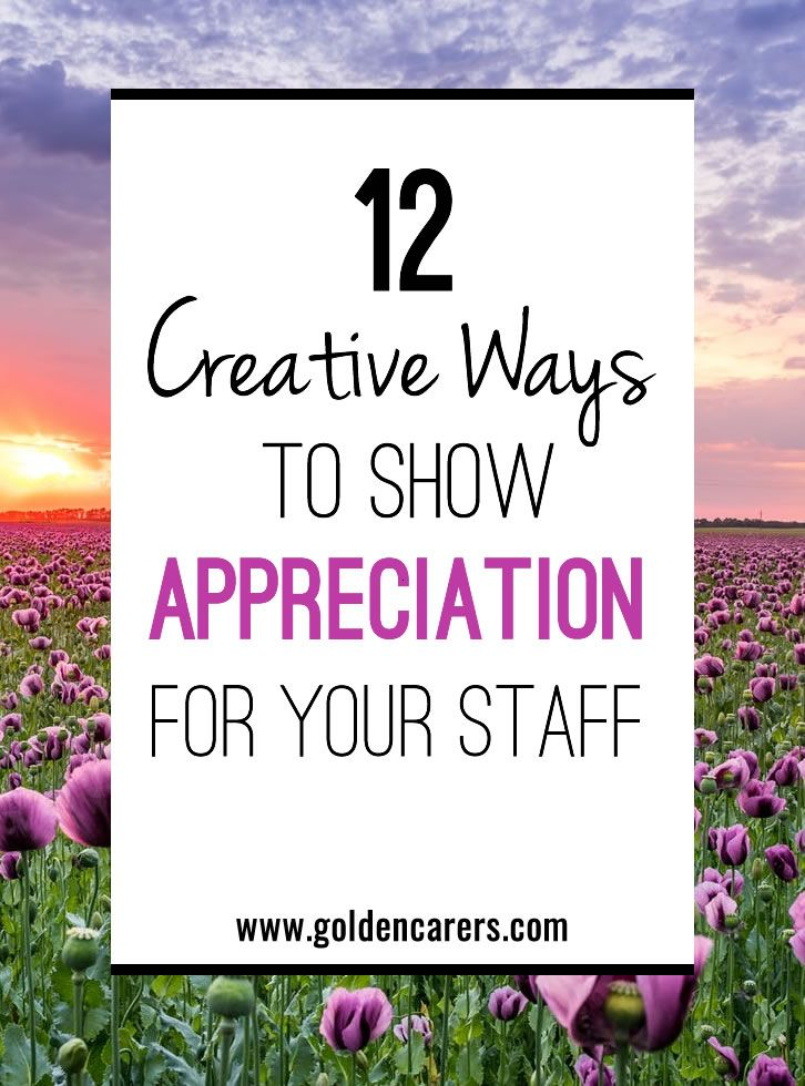 12 Creative Employee Appreciation Ideas