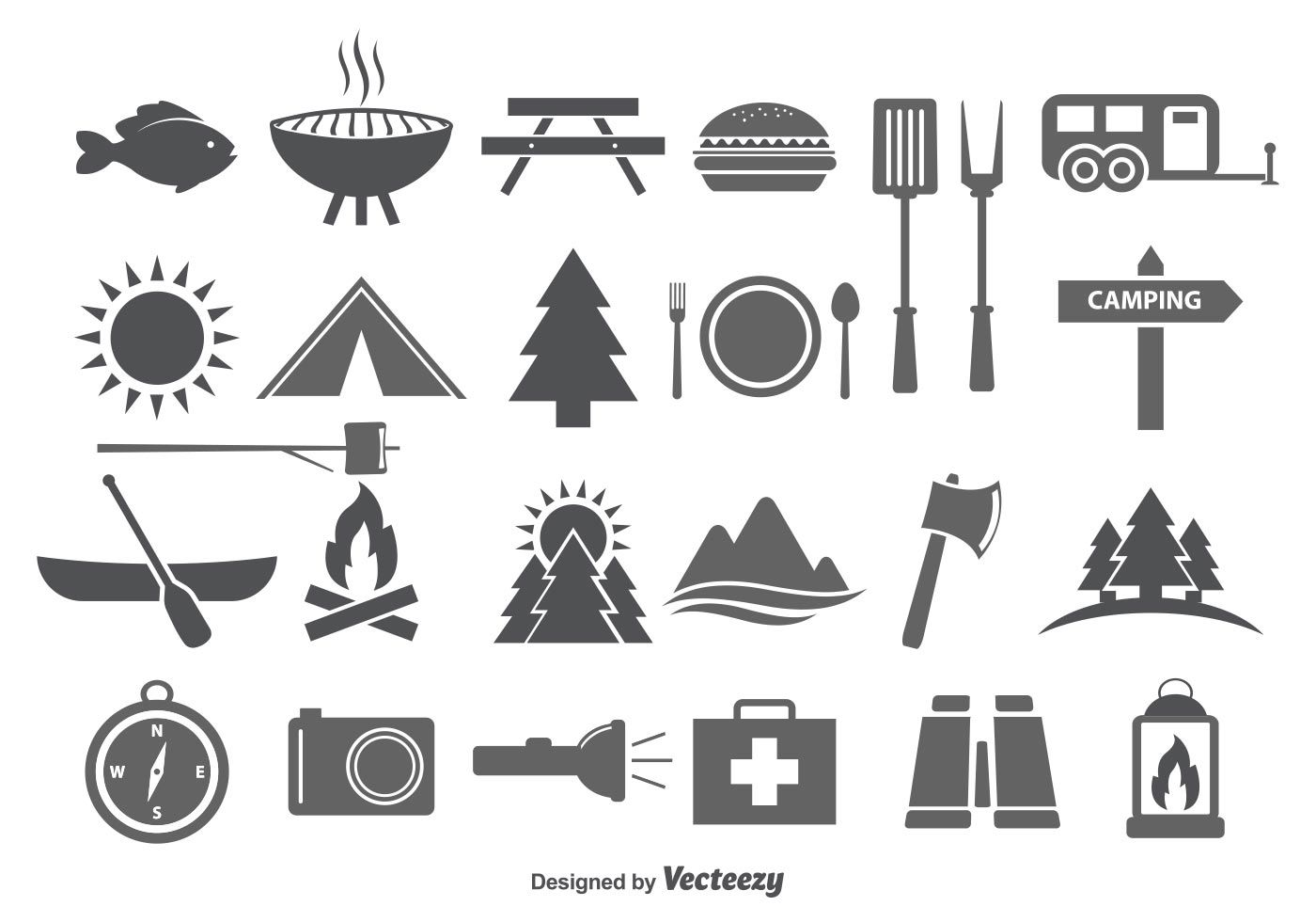 Camping & Camp Food Vector Icons | inspire design | Pinterest ...