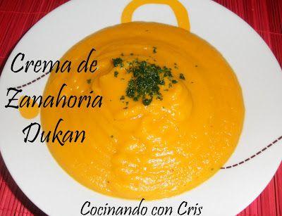 Cocinando con Cris: Crema de Zanahoria Dukan