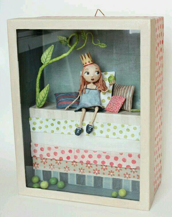 chloe 39 remiat la principessa sul pisello doll art pinterest familienpflege hutschachtel. Black Bedroom Furniture Sets. Home Design Ideas