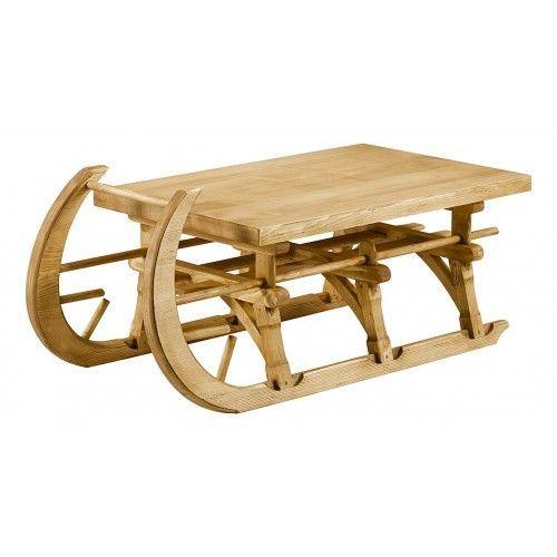Une Table Basse Luge Pour Un Salon Montagne Table Basse Luge Pin Massif