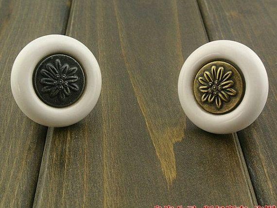 Dresser Knob Drawer Knobs Pulls Handles   Black White Antique Bronze Retro Kitchen  Cabinet Knobs Furniture Handle Hardware Porcelain… 06a5384c31e6