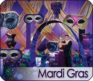 Mardi Gras Prom Ideas