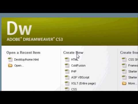 Adobe Dreamweaver Introduction Tutorial How To Make A Website In Html Youtube Dreamweaver Tutorial Web Design Tutorials Adobe Dreamweaver