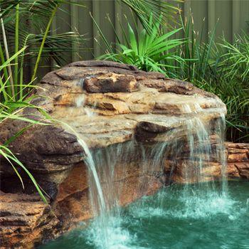 Cascadas para piscinas cascadas en 2019 cascadas for Disenos de cascadas para piscinas