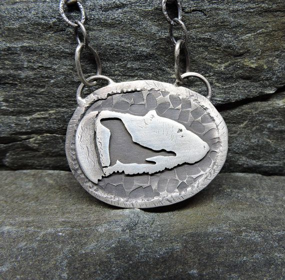 Polar Bear Necklace Sterling Silver Bear & Seal by PureDichotomy