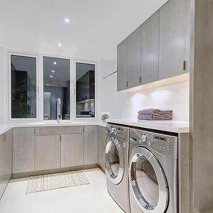 Gray Laundry Room, laundry room, The Cross Decor & Design #graylaundryrooms