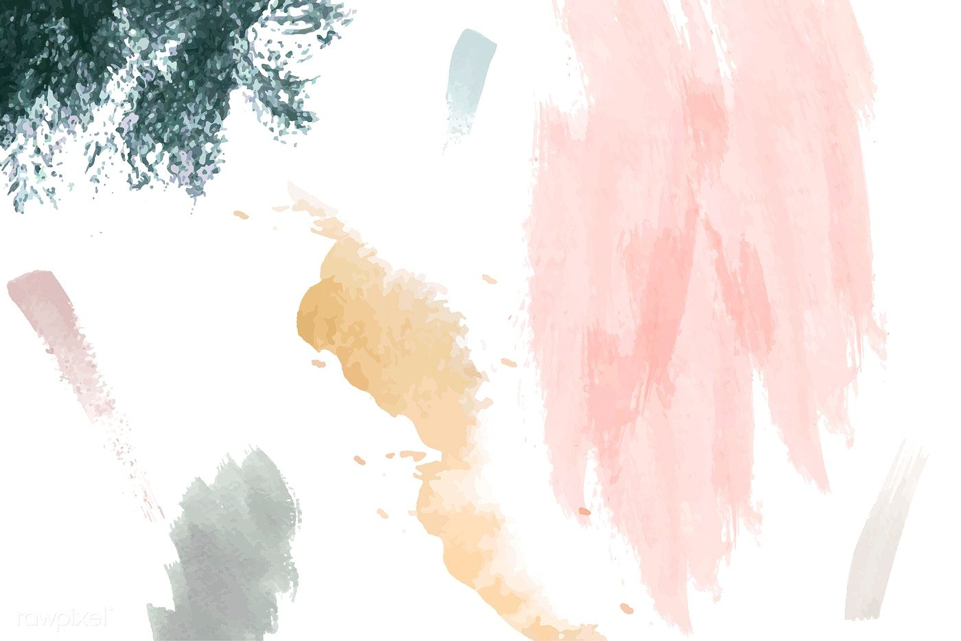Pastel Paintbrush Stroke Textured On A White Background Vector Free Image By Rawpixel Com Kung Textured Background Vector Free Pastel Watercolor