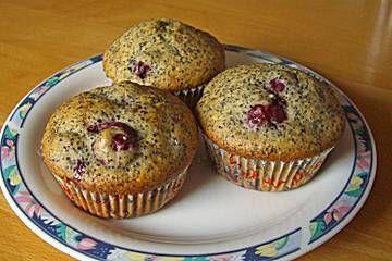 Mohn - Kirsch - Muffins