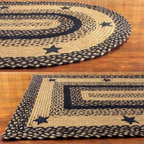 Braided Area Rugs And Coir Doormats From Ihf All Natural Ideal For Country Home Decorating Oval Round Available With Matching