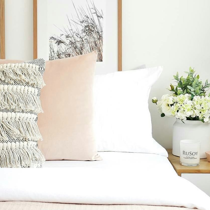 Time to Spring Clean.. love this fresh look 😍 #springclean #freshenup #bedroomdecor #pastal #freshflowers #pillows #cushions #chic #beachstyle #soywaxcandles #bestcandle #rusoy #classicrange #kakaduplum #newscents #comingsoon  #sydney #australia 😀 Image by @girlwholovesinteriors