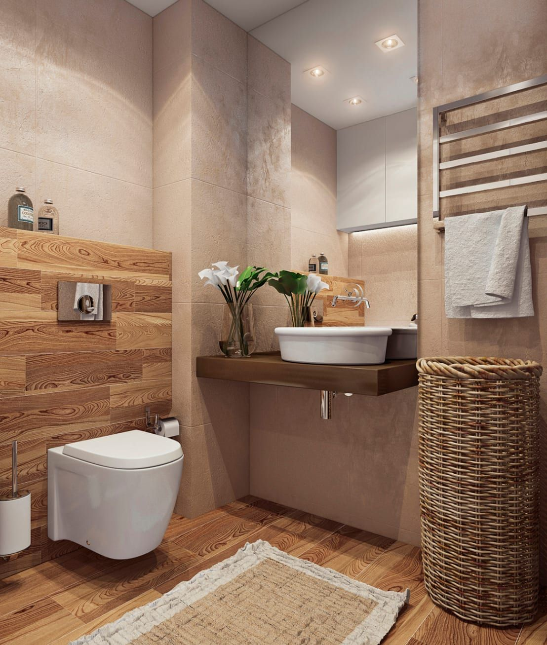 9 Kleine Badezimmer Die Du Sehen Solltest Bevor Du Deins Renovierst Banheiro Minimalista Casas De Banho Pequenas Lindos Banheiros