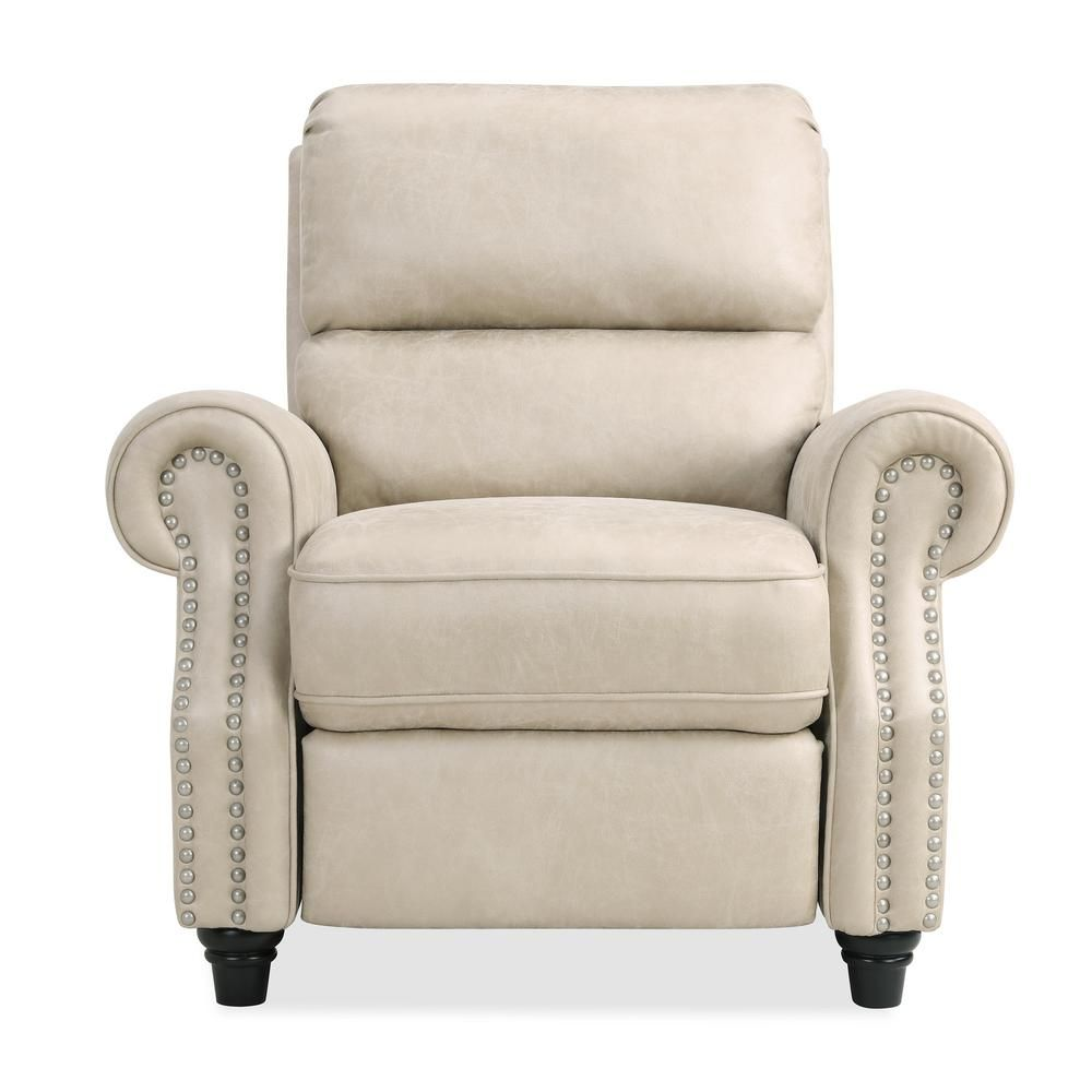 Prolounger Prolounger Push Back Recliner Chair In Latte Tan Distressed Faux Leather Rcl12 Nks85 Pb Recliner Leather Recliner Chair Recliner Chair