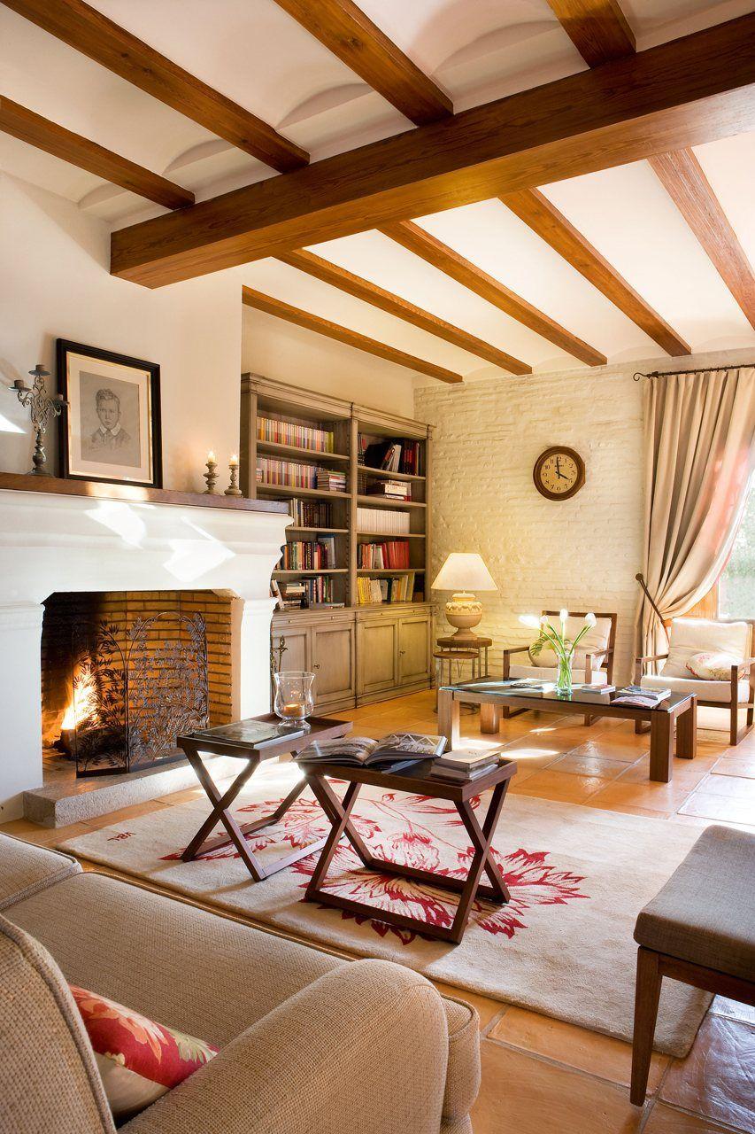 15 salones con chimenea el mueble pinterest salon con chimenea chimeneas and salones - Chimeneas para salones ...