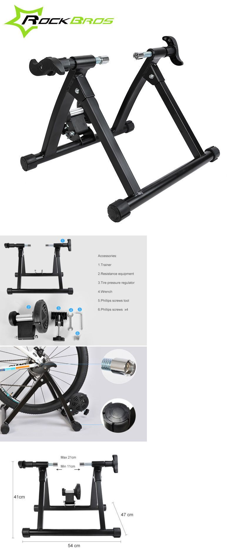 Trainers And Rollers 36141 Rockbros Indoor Cycling Bicycle