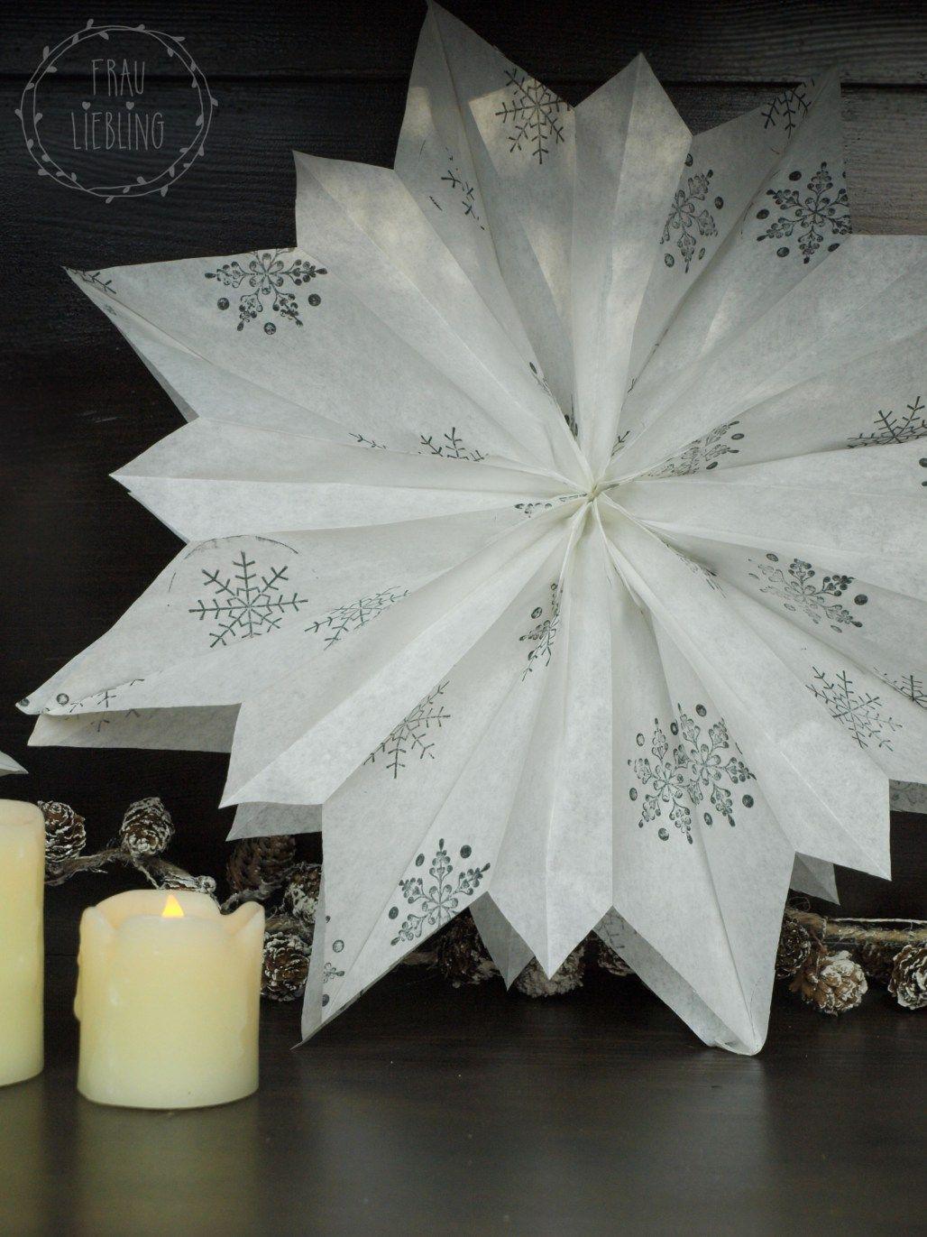 Inspirierend Weihnachtsdeko Aus Papier Das Beste Von Diy Weihnachtsstern Papiertüten - Frau Liebling Diy