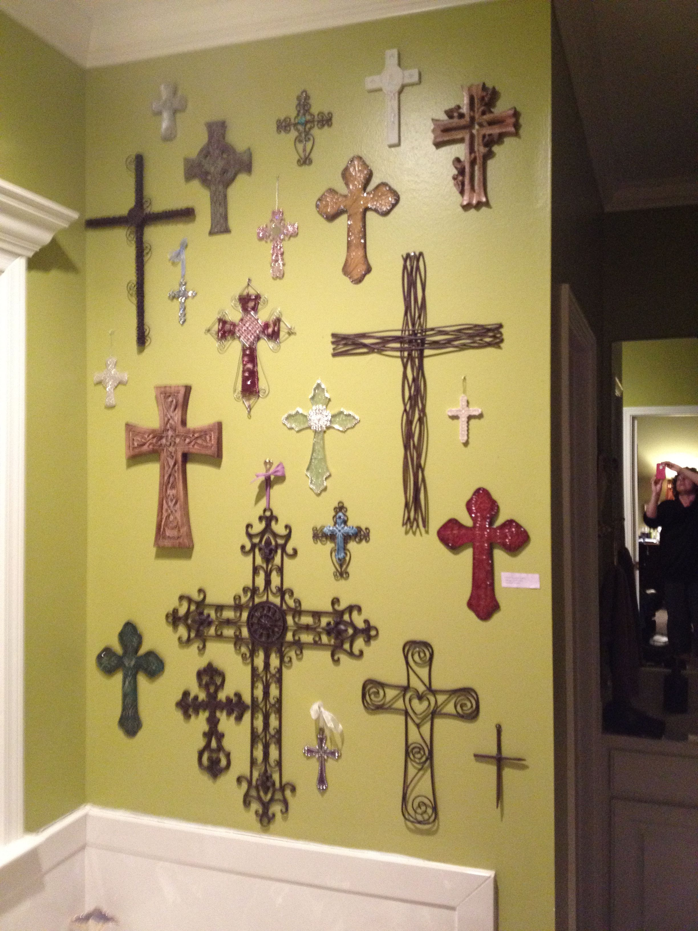 I want to start a cross wall - maybe one at home and one at the ...