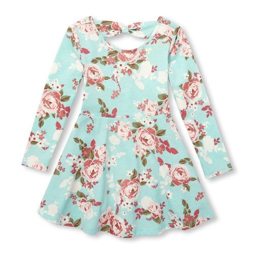 b4b540fced8a Image for product Baby And Toddler Girls Long Sleeve Glitter Rose ...