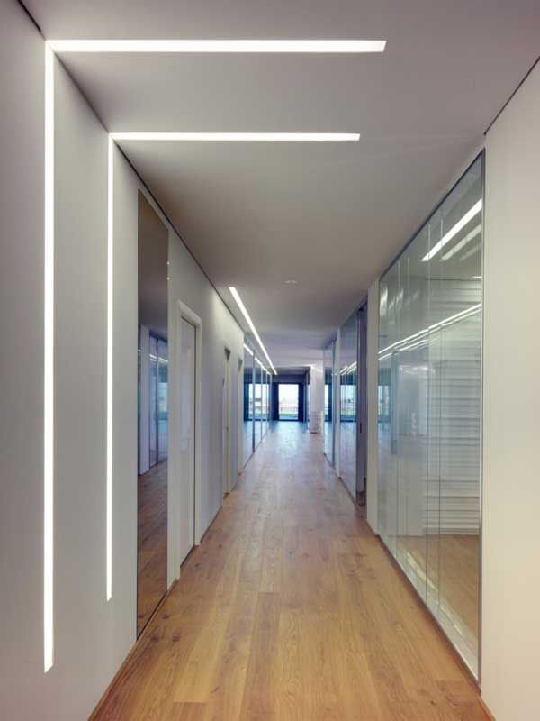 lighting for office space. Dark Faceted Office Building Exposing An Asymmetric Shell Lighting For Space