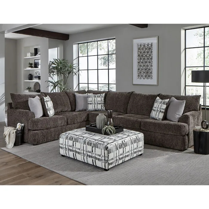 Archie Charcoal Chenille Sectional Weekends Only Furniture Sectional Sofa Sectional Fabric Sectional Sofas