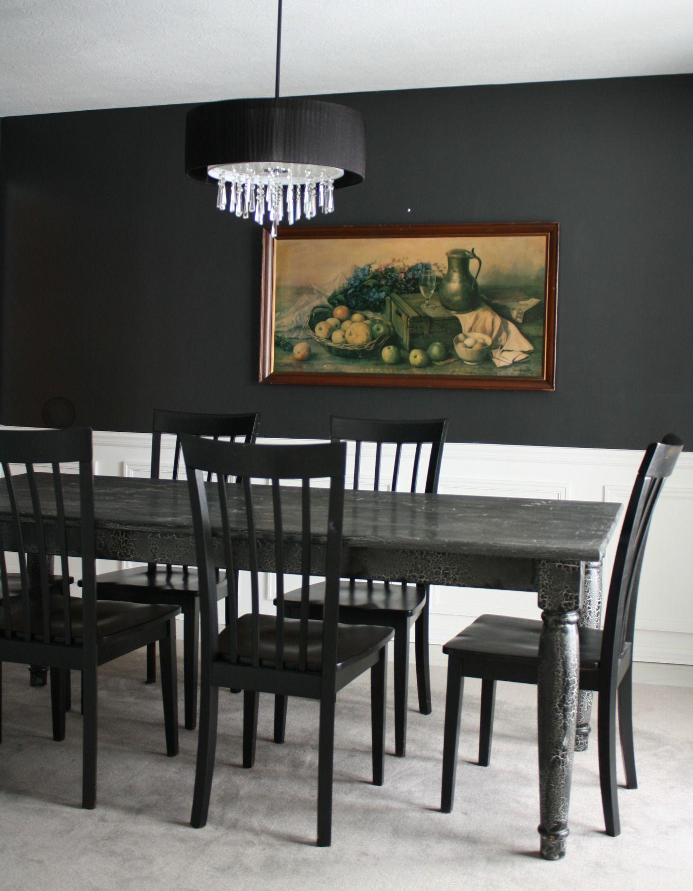 Grey Wood Dining Set