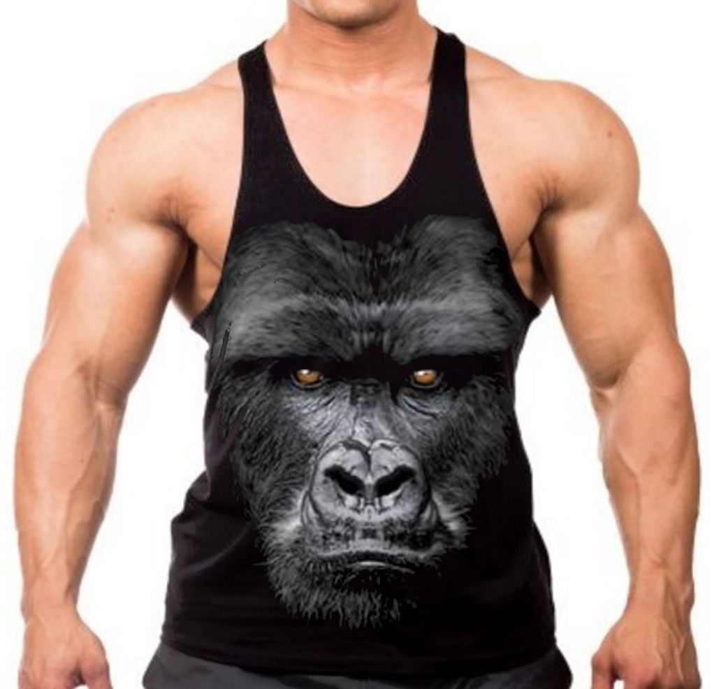 bb7f13a64 T-Shirts Clothing, Shoes & Accessories Velocitee Mens Vest Gorilla Boss  Primate Ape Gangster Mob Mobster ...