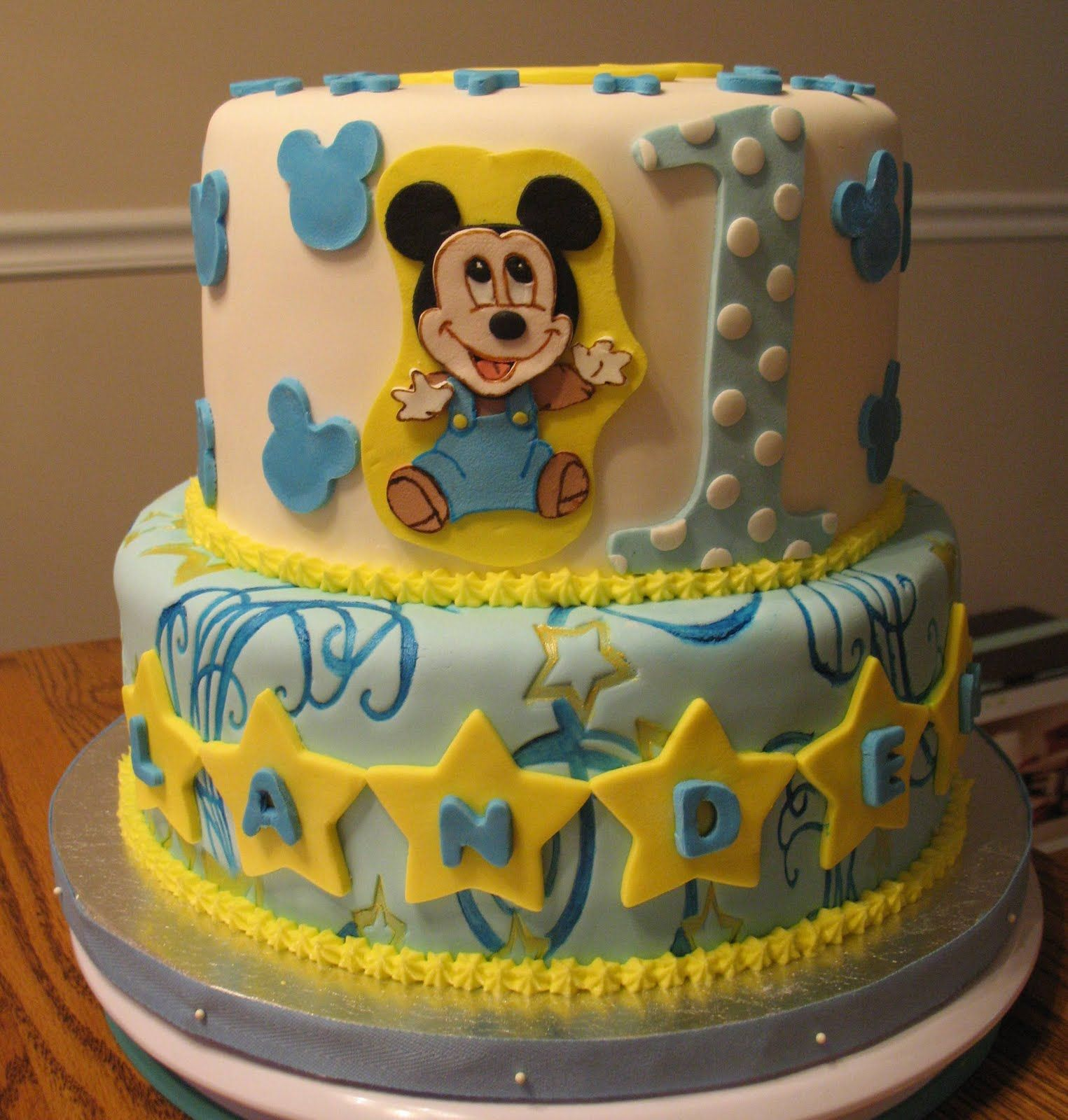 Baby Mickey Mouse Edible Cake Decorations Baby Mickey Mouse 1st Birthday Cake By Cake By Nesrn Tong Via
