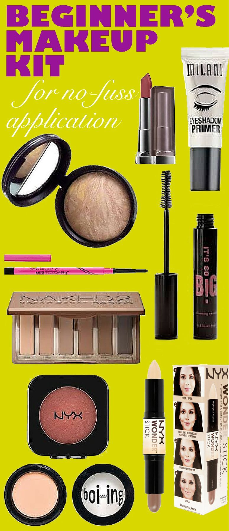 Makeup Kit This is the complete guide to beginner's makeup! Every makeup product you need all condensed into a beginner's makeup kit!This is the complete guide to beginner's makeup! Every makeup product you need all condensed into a beginner's makeup kit!