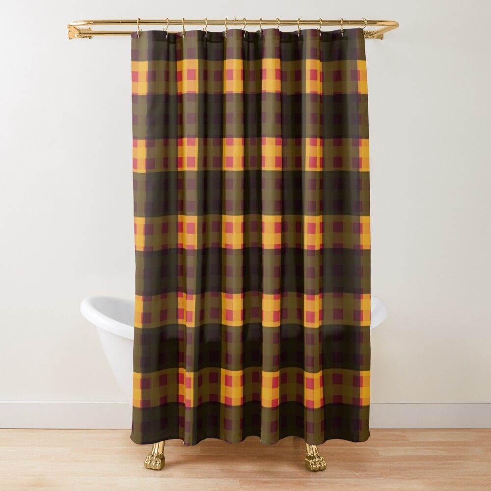 Black Yellow Shower Curtain By Iamdefect In 2020 Yellow