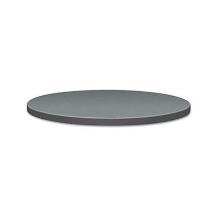 HON Self-Edge Round Hospitality Table Top, 42 inch Diameter, Steel Mesh/Charcoal, Black