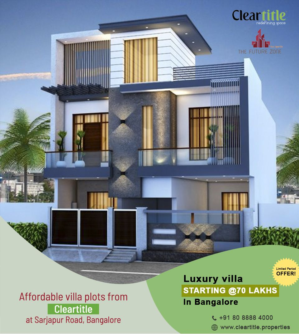 future zone an attractive project from cleartitle that offers spacious affordable villa plots for you all are legally approved also single floor bhk home design small houses plans pinterest rh
