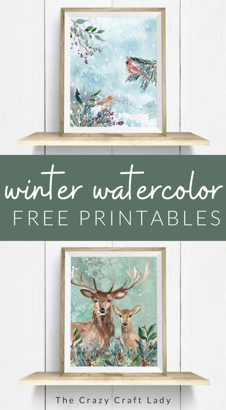 FREE Watercolor Woodland Printables for Fall and Winter