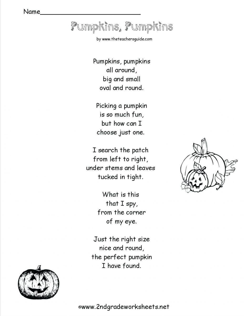Poetry Worksheets For Kids Worksheet Ideas Worksheet Ideas