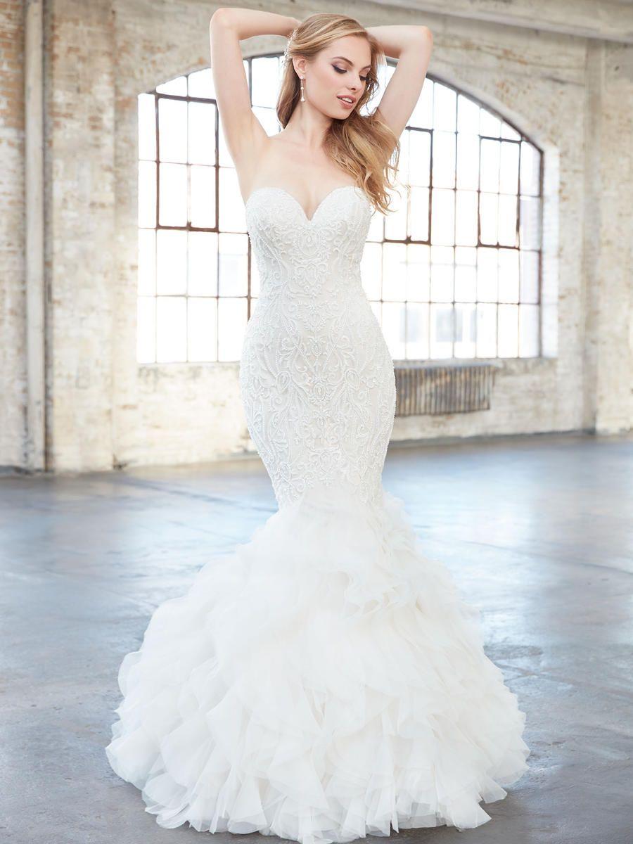 Madison James Bridal by Allure MJ308 | Lace mermaid wedding
