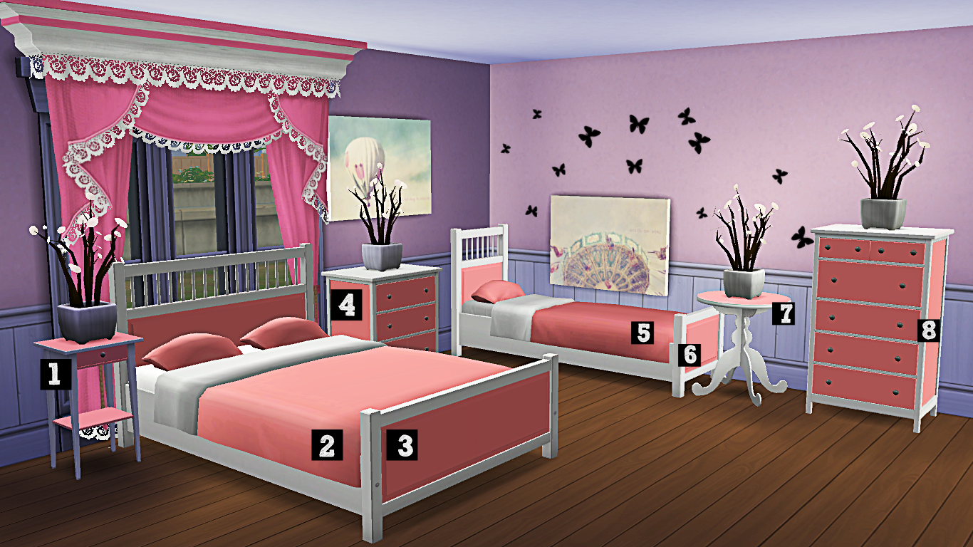Sims 3 Bedroom The Sims 4 Verankas 2t4 Bedroom Recolours With Double And