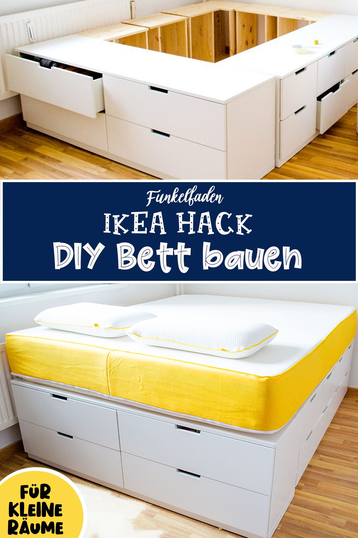 Diy Ikea Hack Plattform Bett Selber Bauen Aus Ikea Kommoden Werbung Ikea Storage Bed Diy Storage Bed Ikea Dresser