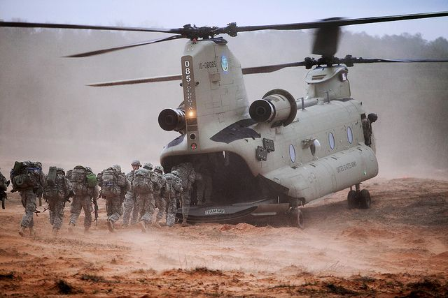 Chinook boarding by The U.S. Army, via Flickr