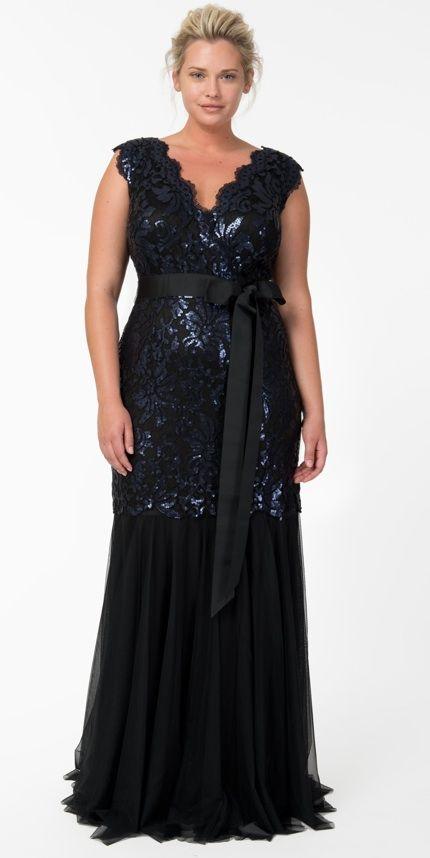 Tadashi Shoji deep blue gown. I want it ! | Jackie\'s wedding ideas ...