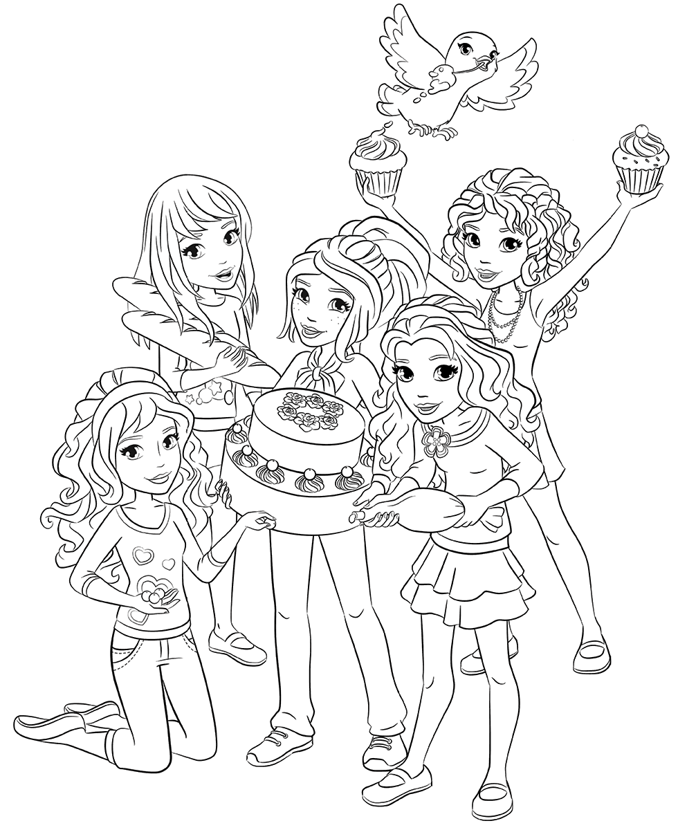 Lego Friends Coloring Pages : friends, coloring, pages, Friends, Coloring, Pages, Coloring,, Pages,, Birthday